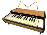hohner liliput piano 3d model