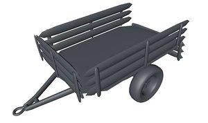 3d c4d car trailer