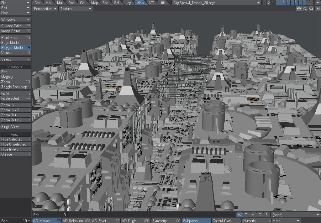 3d death star trench