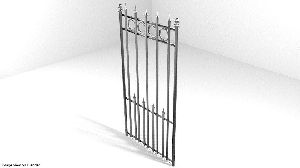 3d model steel gate l