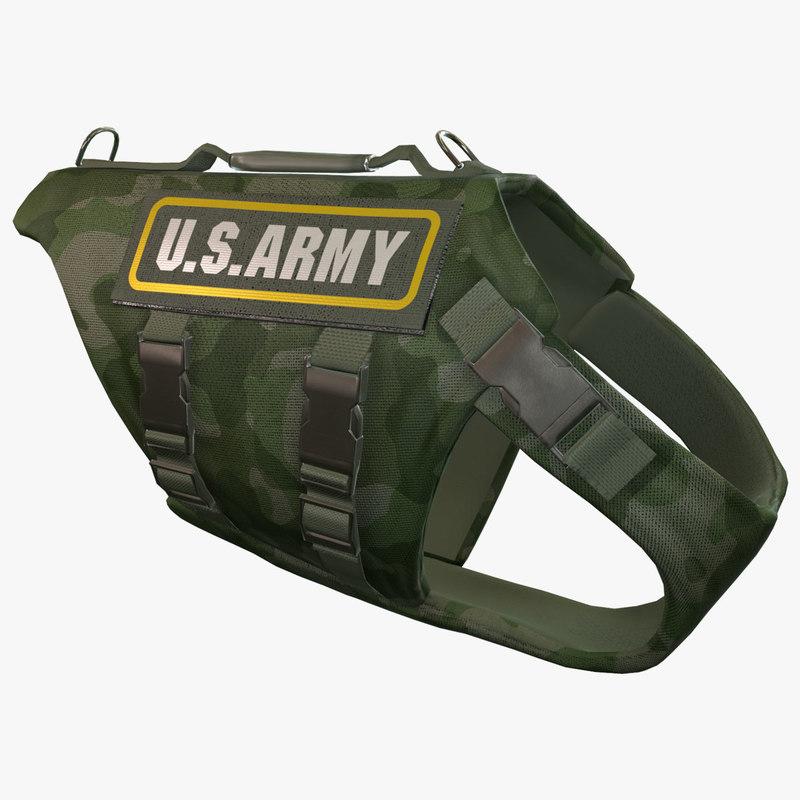 maya army dog armor animation