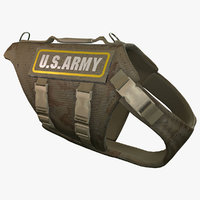 US Army Dog Armor 4 (Desert Camo)