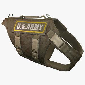 3d model army dog armor animation