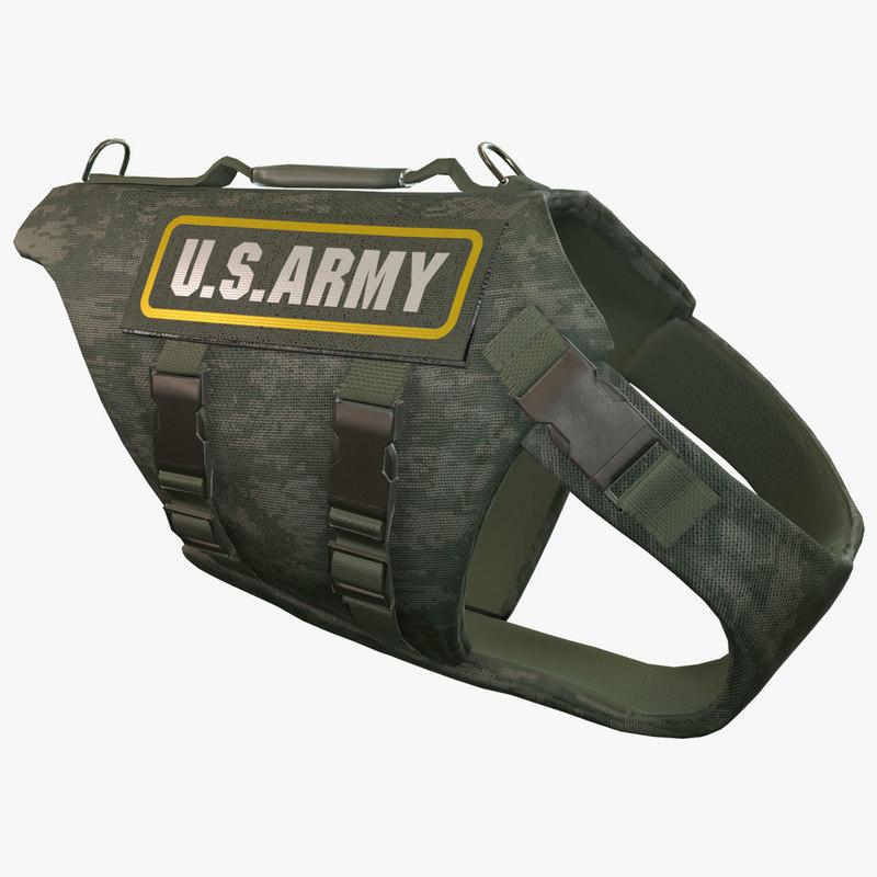 army dog armor animation obj