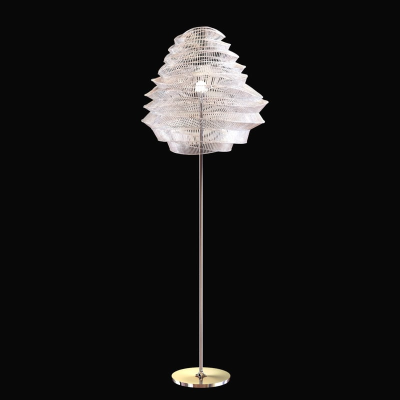 3dsmax lamp light floor glass