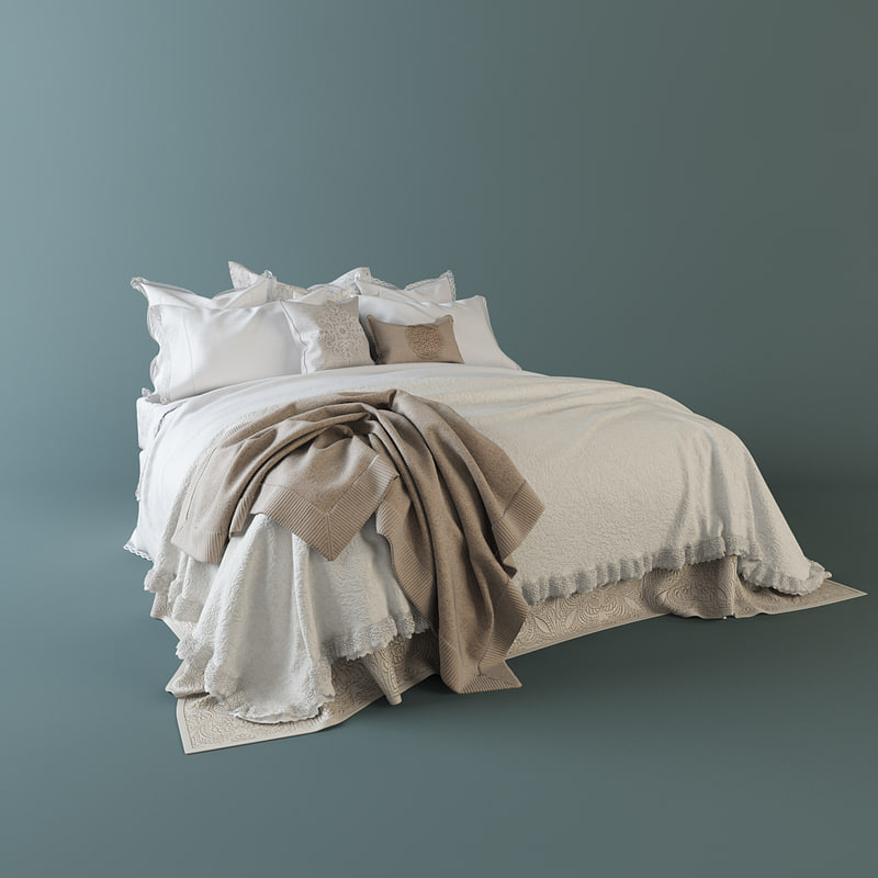 3d model bedclothes bed