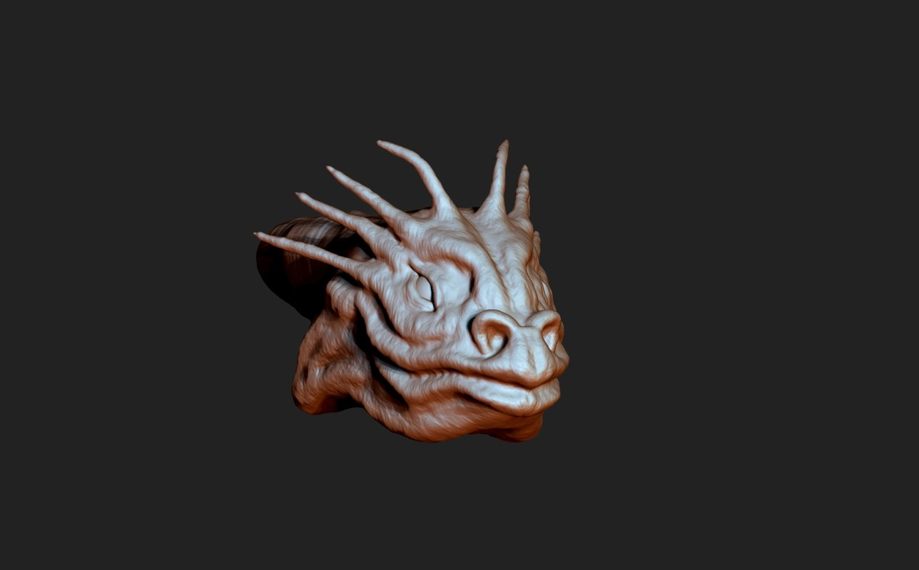 3d zbrush sculpting model