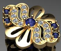 high-quality earing bowknot 3d model