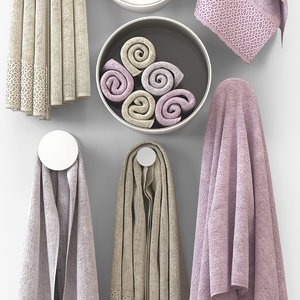 3d towel trussardi cloth
