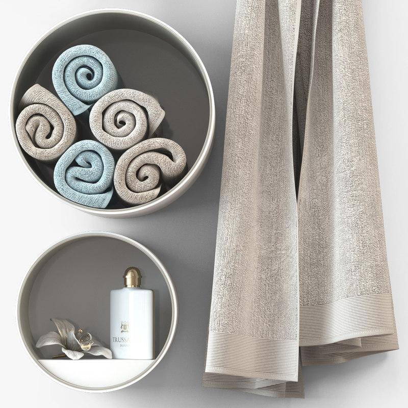 3ds max towel trussardi cloth