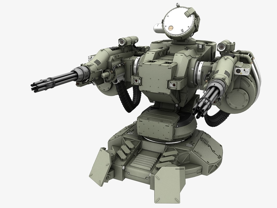 Guns The Military Uses >> 3d guns turret