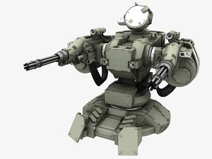 3d guns turret