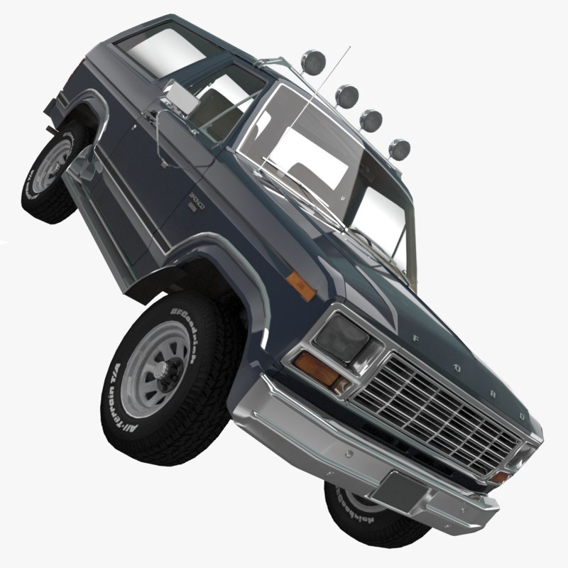 bronco xlt 1980 3d model