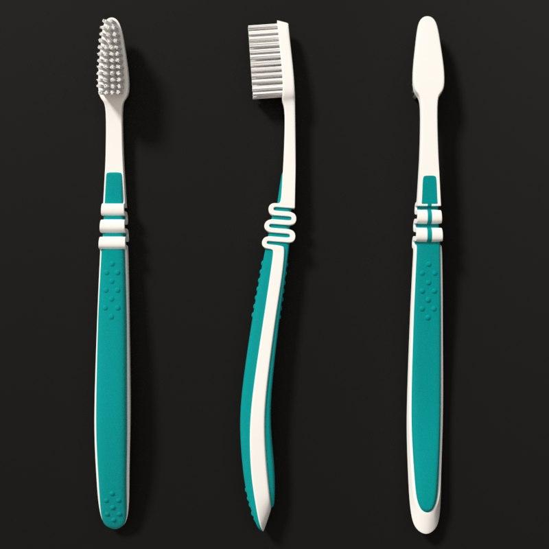 toothbrush blender 3d model
