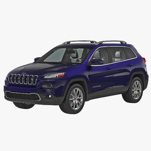 jeep cherokee 2015 simple 3d max