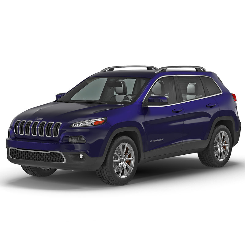 jeep cherokee 2015 simple 3d max