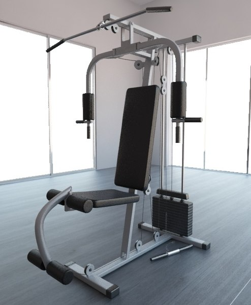 gym equipment multi-gym 3d max