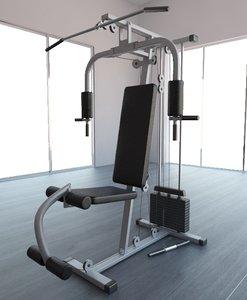 gym equipment multi-gym 3d max