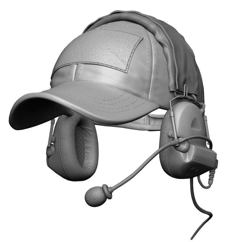 z-tactical headset shooter s cap 3ds