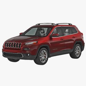 3d model jeep cherokee 2015 modeled