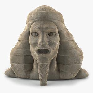3d model of pharaoh head statue