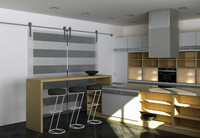 Kitchen set with island minimalist style