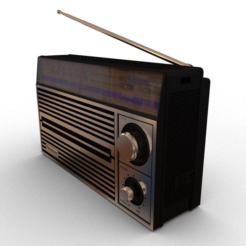 3d model panasonic radio