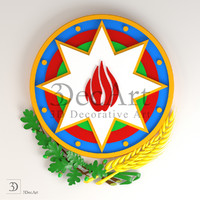 3D model of the coat of arms of Azerbaijan | Gb_003