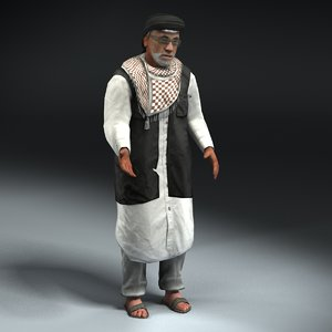 3ds max rigged insurgent leader
