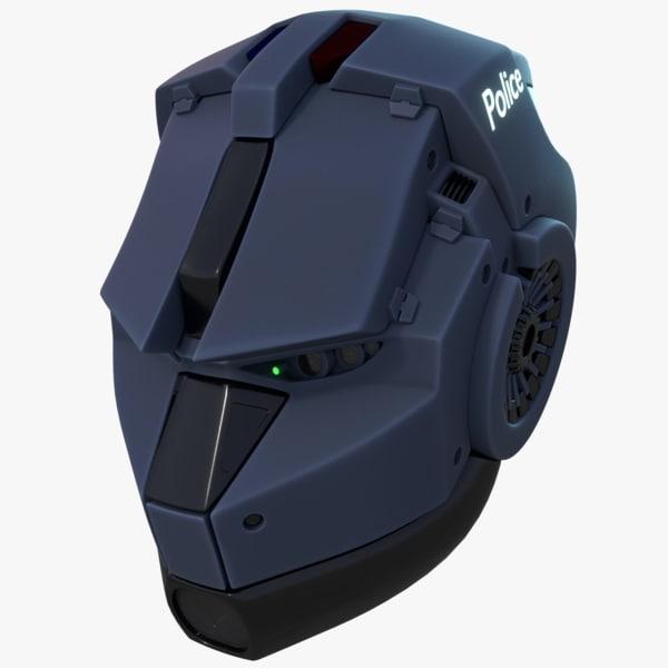 3d model blender helmet