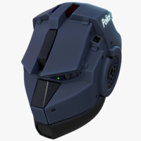 3d model blender helmet