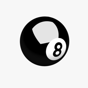 3d model pool ball