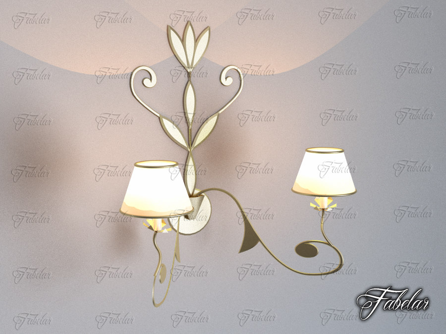 sconce lighting illumination 3d 3ds