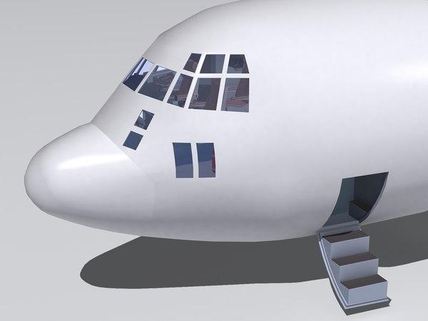 3d model kc-130 cockpit