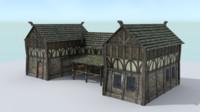 stable medieval village 3d model
