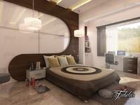 3ds bedroom scene