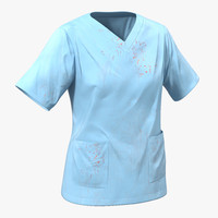 3d model female surgeon dress 14