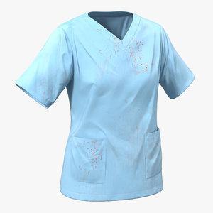 3d model female surgeon dress 14