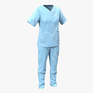 3d model female surgeon dress 12