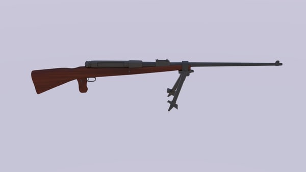 mauser rifle 3d model
