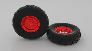 offroad wheel 3d 3ds