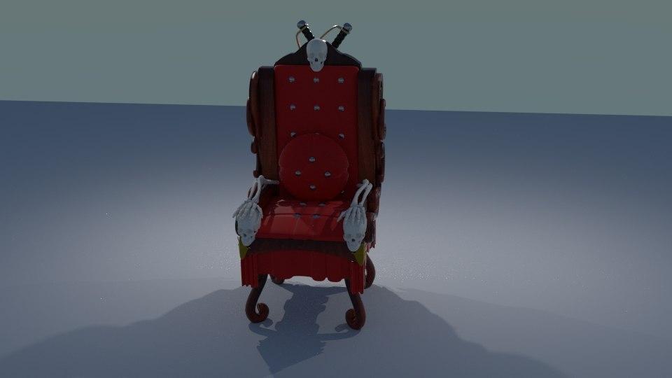 skull chair 3ds