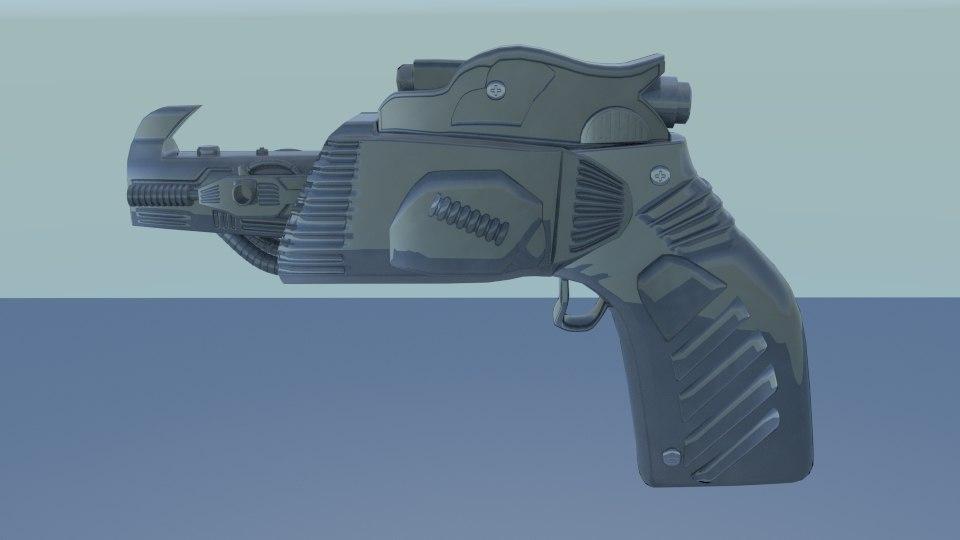 3d model space gun