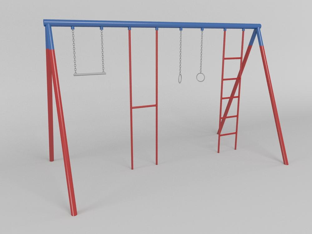 gymnastic station 3d max