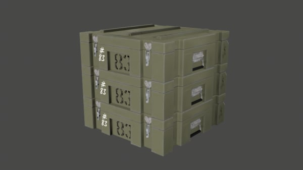 free military case 3d model