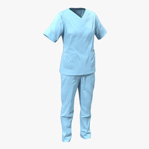 female surgeon dress 12 3d max
