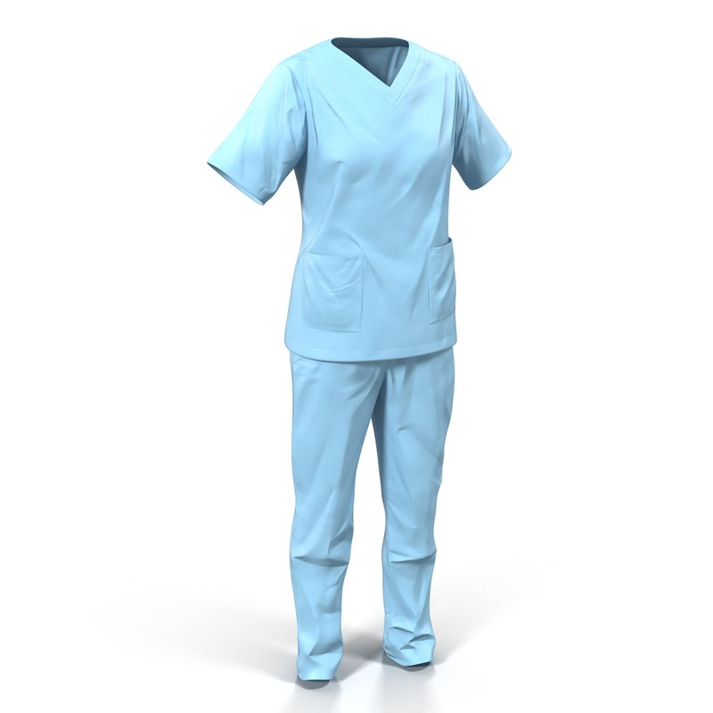 female surgeon dress 12 3d max