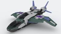 lego quinjet 3d model