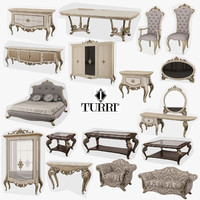 3d model turri baroque