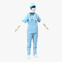 female surgeon dress 10 3d max